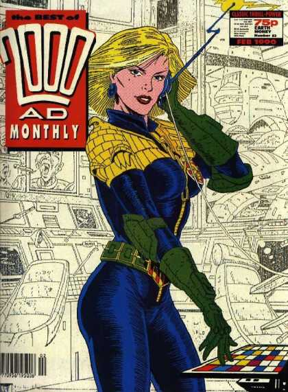 Best of 2000 AD 53 - Control Room - Speaker - Antennae - Wire - Blond Girl