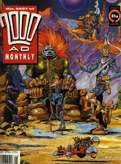 Best of 2000 AD 64 - Space - Aliens - Mountains - Monsters - Blue Men