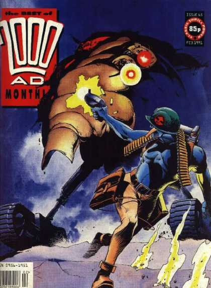 Best of 2000 AD 65 - Soldier - Gun - Beast - Desert - Shooting