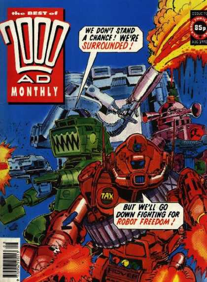 Best of 2000 AD 71 - Robots - Fire - Laser Guns - Fighting - Bullets
