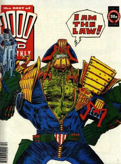 Best of 2000 AD 73 - I Am The Law - Monthly - 90p - Gun - Mask