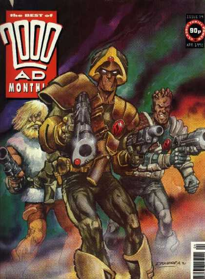 Best of 2000 AD 79 - Alien Soldier - Big Guns - Who In Charge - Rainbow Background - Hero Patrol