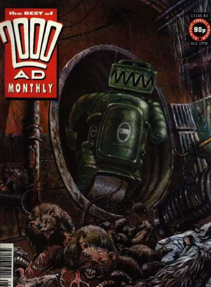 Best of 2000 AD 83 - Rats - Sewer - Robot - Tunnel - Pipes
