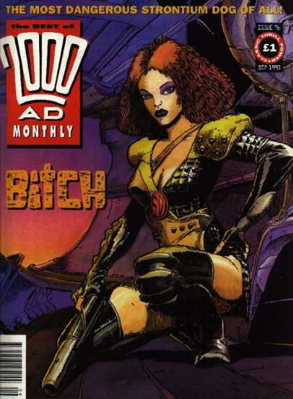 Best of 2000 AD 96 - Bitch - Big Gun - Purple Eyes - Yellow Shoulder Pads - Black Body Armor