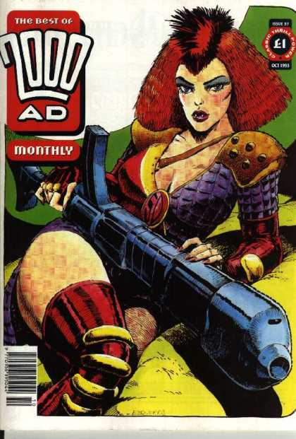 Best of 2000 AD 97 - Giant Gun - Fangs - Red Hair - Armor - Scales