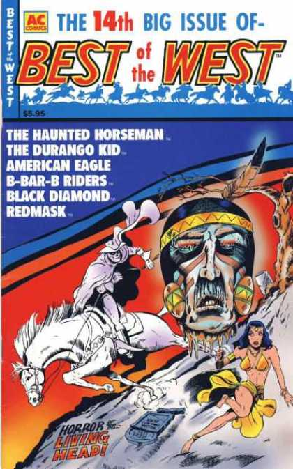 Best of the West 14 - 14th Issue - The Haunted Horseman - The Durango Kid - Black Diamond - Redmask
