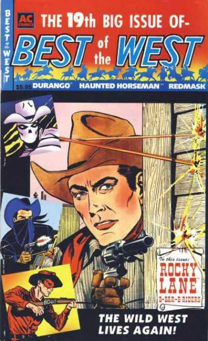 Best of the West 19 - Rocky Lane - 19th Big Issue - Gunfight - Mask