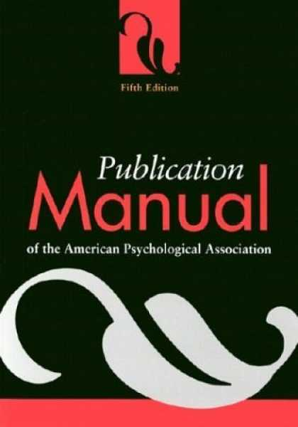 Bestsellers (2006) - Publication Manual of the American Psychological Association, Fifth Edition by A