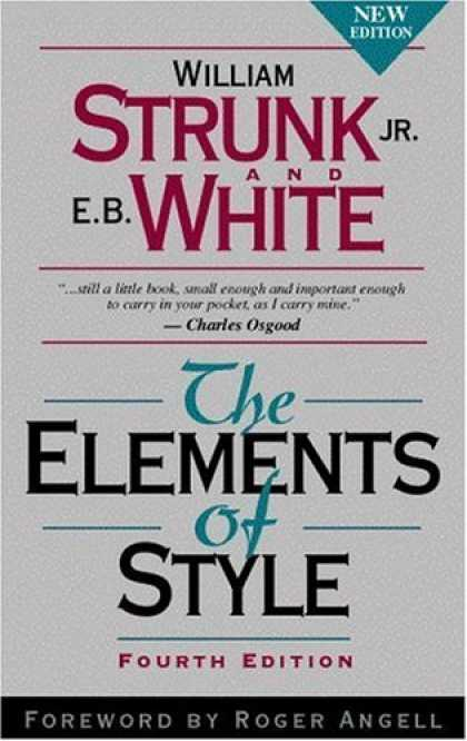 Bestsellers (2006) - The Elements of Style, Fourth Edition by William Strunk Jr.