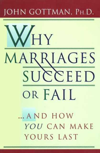 an analysis of the book why marriages succeed or fail by john gottman Get this from a library why marriages succeed or fail [john gottman nan silver] -- psychologist and top marriage guru john gottman has spent twenty years studying what makes a marriage last - now you can use his tested methods to evaluate, strengthen and maintain your long-term .