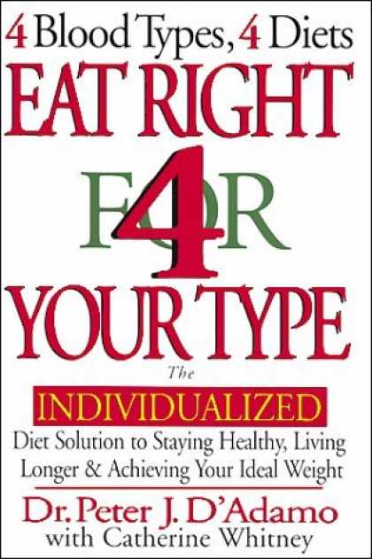 Bestsellers (2006) - Eat Right 4 Your Type: The Individualized Diet Solution to Staying Healthy, Livi