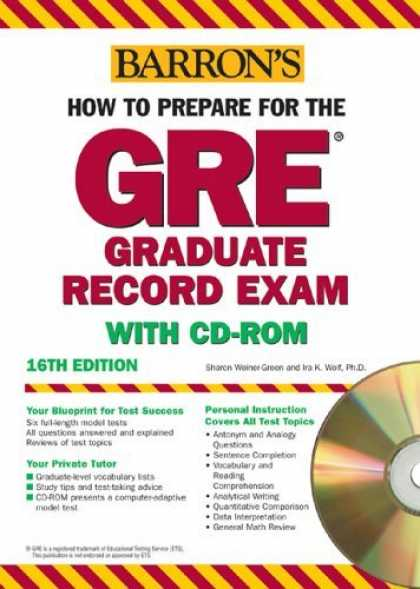 Bestsellers (2006) - How to Prepare for the GRE with CD-ROM (Barron's How to Prepare for the Gre Grad