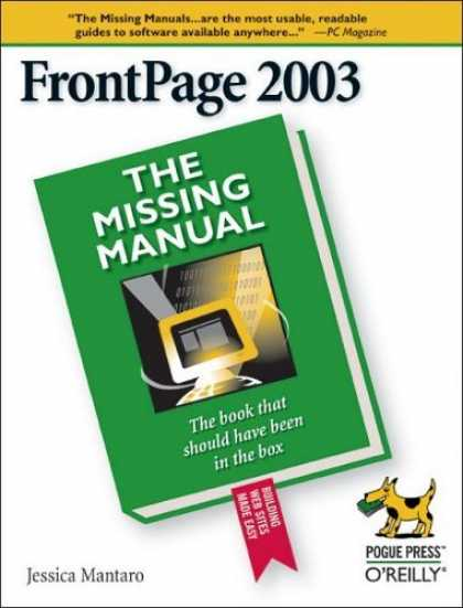 Bestsellers (2006) - FrontPage 2003 (The Missing Manual) by Jessica Mantaro