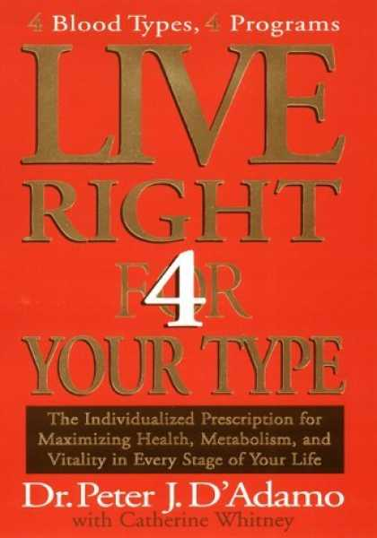 Bestsellers (2006) - Live Right 4 Your Type by Peter J. D'Adamo