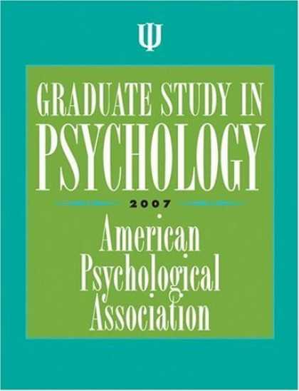 Bestsellers (2006) - Graduate Study in Psychology 2007 (Graduate Study in Psychology) by American Psy