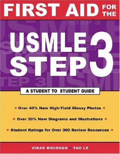 Bestsellers (2006) - First Aid for the USMLE Step 3 (First Aid) by Tao Le