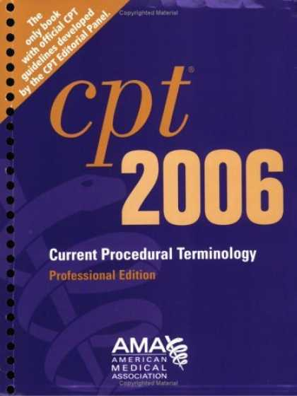 Bestsellers (2006) - CPT Professional Edition - 2006 (Cpt / Current Procedural Terminology (Professi
