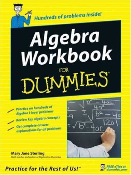 Bestsellers (2006) - Algebra Workbook For Dummies (For Dummies (Lifestyles Paperback)) by Mary Jane S