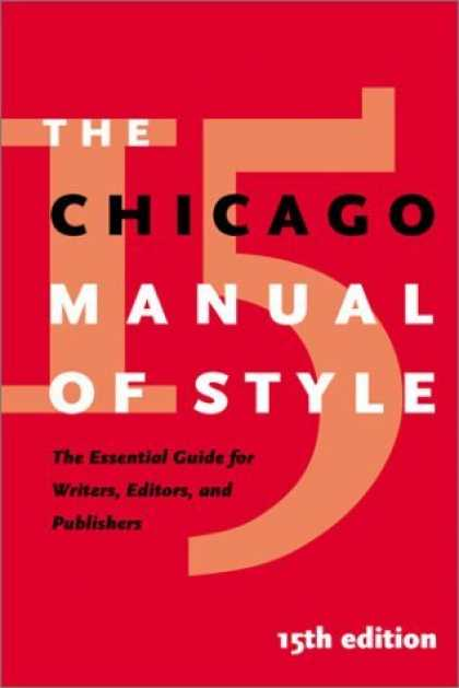 Bestsellers (2006) - The Chicago Manual of Style by