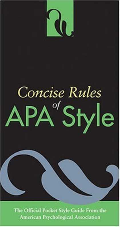 Bestsellers (2006) - Concise Rules Of Apa Style (Concise Rules of the American Psychological Associat