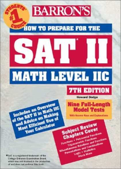 Bestsellers (2006) - How to Prepare for the SAT II Math Level II C by Howard Dodge