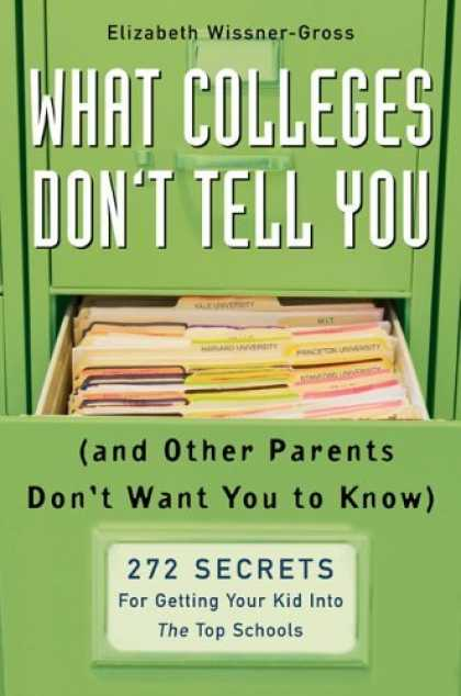 Bestsellers (2006) - What Colleges Don't Tell You (And Other Parents Don't Want You to Know): 272 Sec