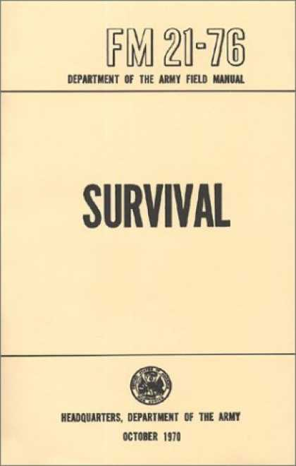 Bestsellers (2006) - US Army Survival Manual: FM 21-76 by Department of Defense