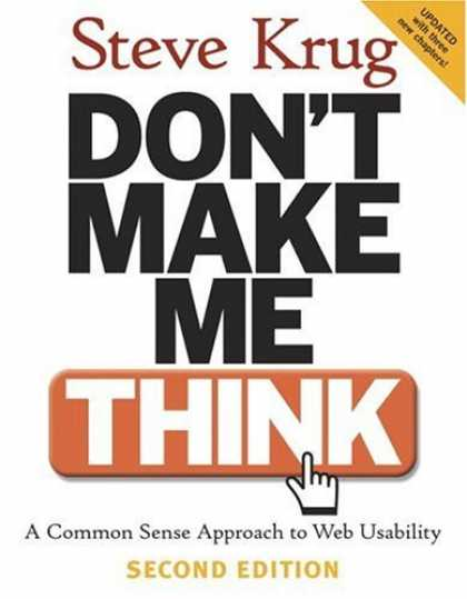 Bestsellers (2006) - Don't Make Me Think: A Common Sense Approach to Web Usability (2nd Edition) by S