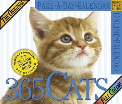 Bestsellers (2006) - The Original 365 Cats Page-A-Day Calendar 2007 (Large Page-A-Day) by Workman Pub