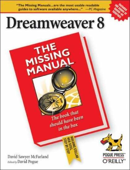 Bestsellers (2006) - Dreamweaver 8: The Missing Manual by David Sawyer McFarland