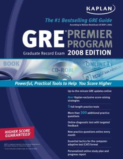 Bestsellers (2007) - Kaplan GRE Exam 2008 Premier Program by Kaplan