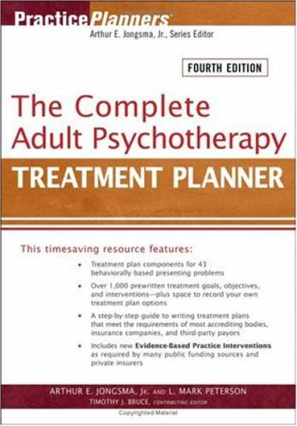 Bestsellers (2007) - The Complete Adult Psychotherapy Treatment Planner (Practice Planners) by Arthur