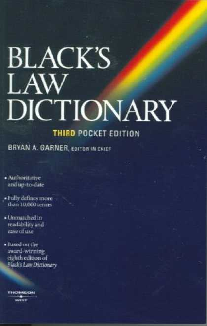 Bestsellers (2007) - Black's Law Dictionary (Pocket), 3rd Edition