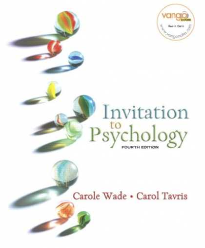 Bestsellers (2007) - Invitation to Psychology (4th Edition) (MyPsychLab Series) by Carole Wade