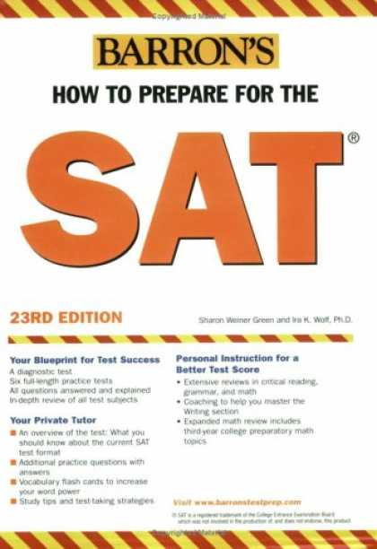 Bestsellers (2007) - How to Prepare for the SAT: 2007 (Barron's How to Prepare for the Sat I (Book On