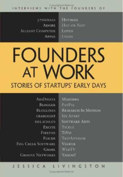Bestsellers (2007) - Founders at Work: Stories of Startups' Early Days by Jessica Livingston