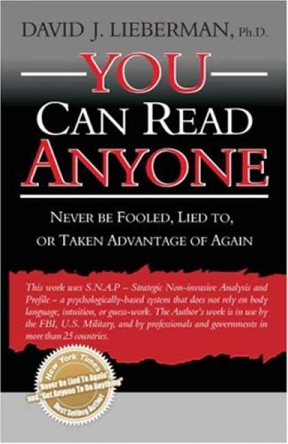 Bestsellers (2007) - You Can Read Anyone by David J. Lieberman