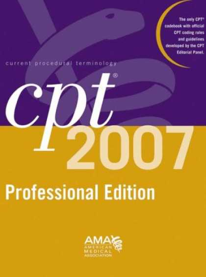 Bestsellers (2007) - CPT 2007 Professional Edition (Cpt / Current Procedural Terminology (Professiona