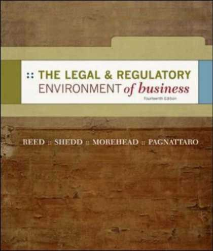 Bestsellers (2007) - The Legal and Regulatory Environment of Business by O. Lee Reed