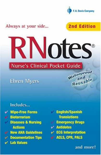 Bestsellers (2007) - Rnotes: Nurse's Clinical Pocket Guide by Ehren Myers