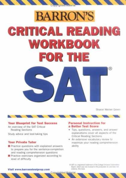 Bestsellers (2007) - Critical Reading Workbook for the SAT (Barron's Critical Reading Workbook for th