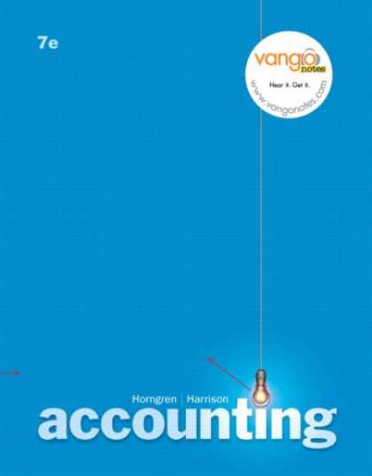 Bestsellers (2007) - Accounting (7th Edition) (MyAccountingLab Series) by Charles T. Horngren
