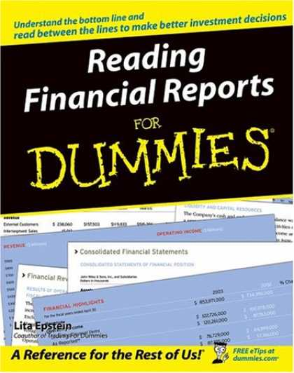 Bestsellers (2007) - Reading Financial Reports For Dummies by Lita, MBA Epstein