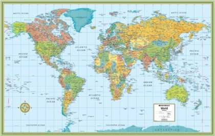 Bestsellers (2007) - World Rolled Map (M Series World Wall Maps) by Robert G. Enzel
