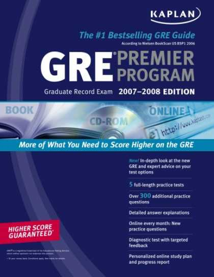 Bestsellers (2007) - Kaplan GRE Exam 2007-2008 Premier Program (w/ CD-ROM) by Kaplan