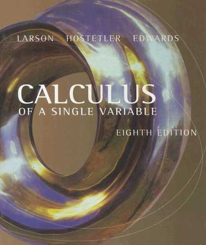 Bestsellers (2007) - Calculus Of A Single Variable by Ron Larson