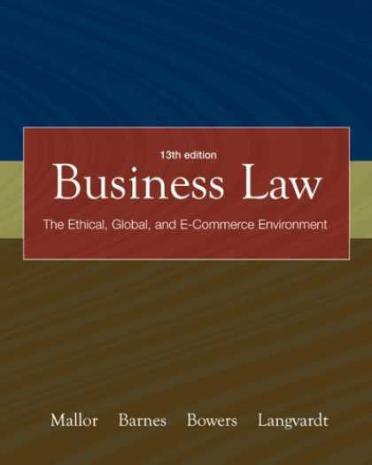 Bestsellers (2007) - Business Law with OLC card and You Be The Judge DVD by Jane P. Mallor