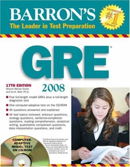 Bestsellers (2007) - Barron's GRE 2008 with CD-ROM (Barron's How to Prepare for the Gre Graduate Reco