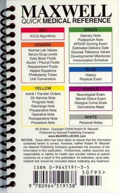 Bestsellers (2007) - Maxwell Quick Medical Reference (Maxwell, Quick Medical Reference Maxwell, Quick