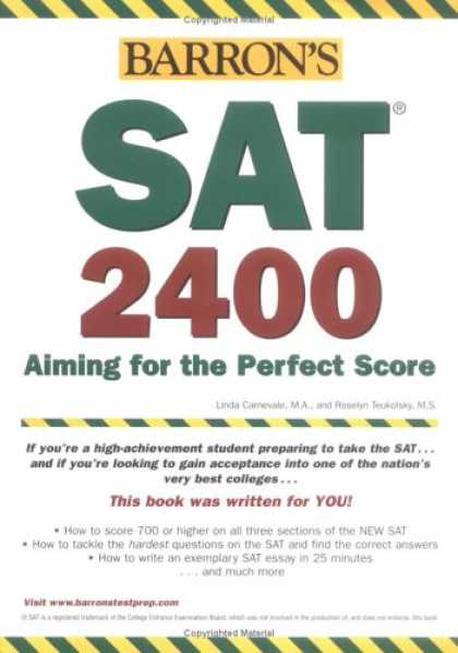 Bestsellers (2007) - Barron's SAT 2400: Aiming for the Perfect Score by Linda Carnevale